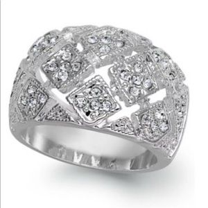 Charter Club Ring Size 7 Crystal Basket Weave
